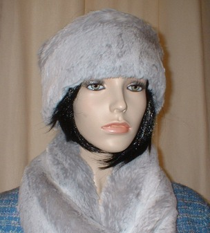 Tissavel Silver Sable Faux Fur Headband