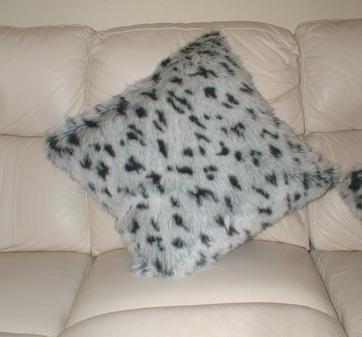 Tissavel Winter Leopard Cushion 51 x 51cm 20 x 20 inches