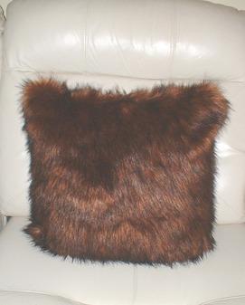 """Red Fox Faux Fur Cushion 41x41cm (16"""")"""