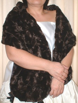 Chocolate Astra Faux Fur Stole