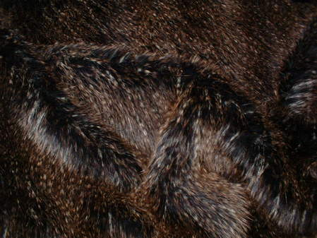 Kodiac Bear Brown Faux Fur Fabric Per Meter
