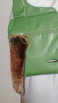 Madagascar Faux Fur Tail Handbag Key Charm