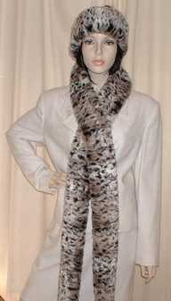 Wild Cat Faux Fur Super Long Scarf