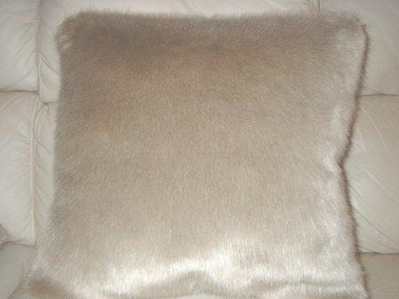 Honey Blonde Faux Fur Cushion 24 x 24 inch. 61 x 61 cm