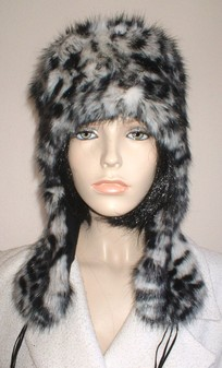 Panther Faux Fur Trapper Hat
