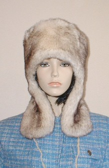 Polar Fox Faux Fur Trapper Hat