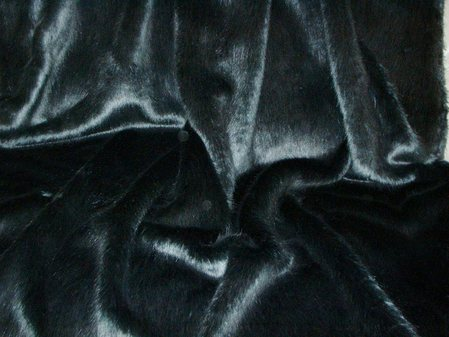Charcoal Mink Faux Fur Fabric Per Meter