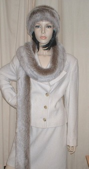 Koala Faux Fur Super Long Scarf
