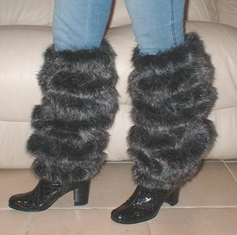 Wolfhound Faux Fur Leg Warmers