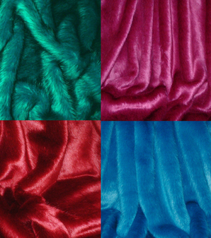 Coloured Set of Faux Fur Swatches