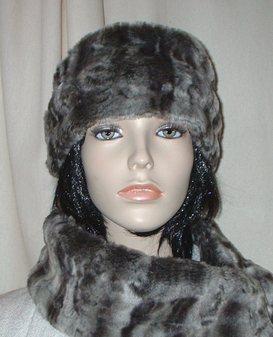 Vintage Silver Astra Faux Fur Headband