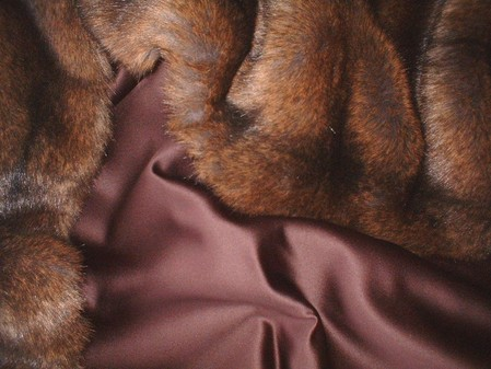 Chocolate Duchess Satin per meter