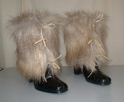 Coyote Faux Fur Boot Wraps