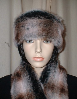 Chinchilla Faux Fur Headband