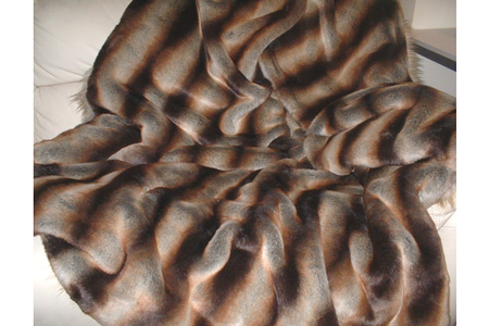 Golden Brown Chinchilla Faux Fur New Oblong Cushion
