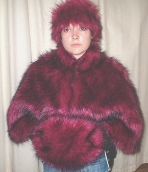 Magenta Faux Fur Cape