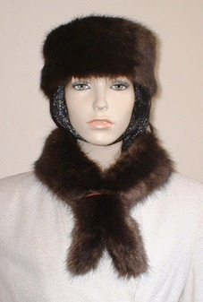 Mahogany Mink Faux Fur Slim Collar/Headband