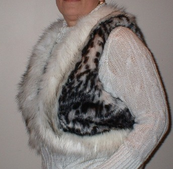 Panther and Alaska Faux Fur Body Warmer