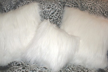 Polar Bear Faux Fur Cushions