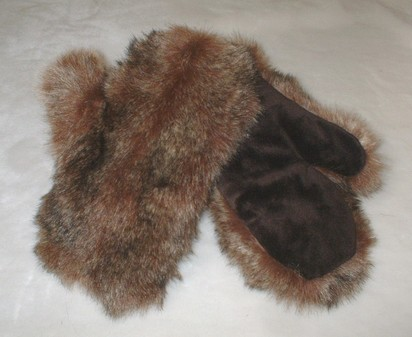 Russian Sable Faux Fur Mittens