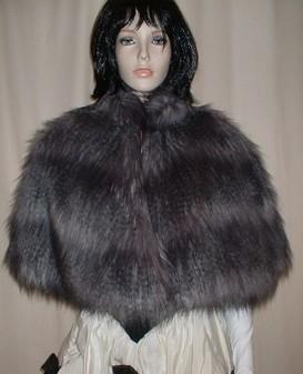 Siberian Wolf Faux Fur Cape