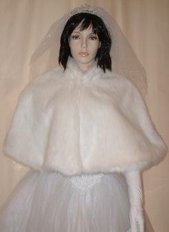 Snow White Faux Fur Cape