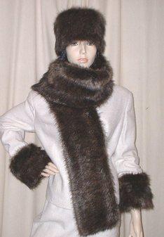 Brown Bear Faux Fur Scarf