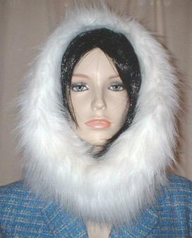 Polar Bear Faux Fur Cowl/Neck Warmer