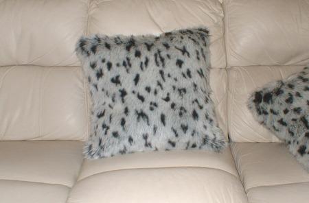 Tissavel Winter Leopard Faux Fur Cushions