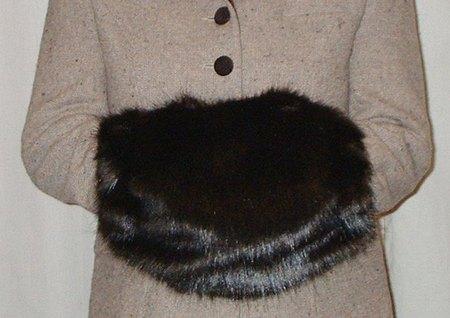Mahogany Mink Faux Fur Muff
