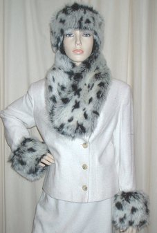 Winter Leopard Faux Fur Cuffs