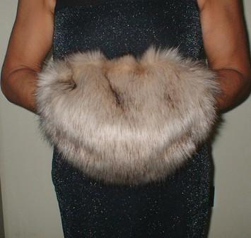 Fawn Musquash Faux Fur Muff