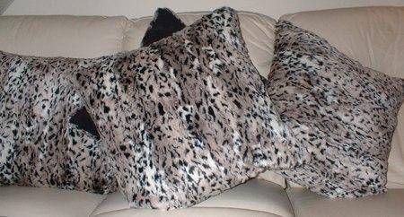 Wild Cat Faux Fur Cushion 20 x20 inches