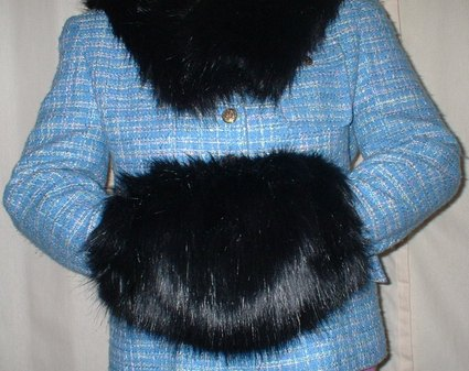 Black Bear Faux Fur Muff