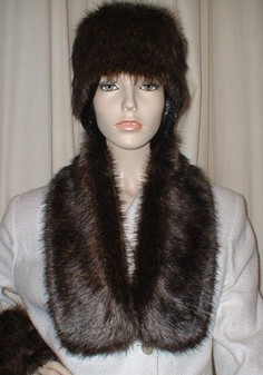 Brown Bear Faux Fur Neck Scarf