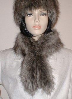 Timber Wolf Faux Fur Slim Collar/Headband