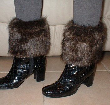 Brown Bear Faux Fur Boot Toppers