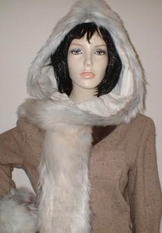 Snow Wolf Faux Fur Hoodie