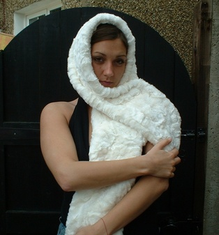 Ivory Astra Faux Fur Fling