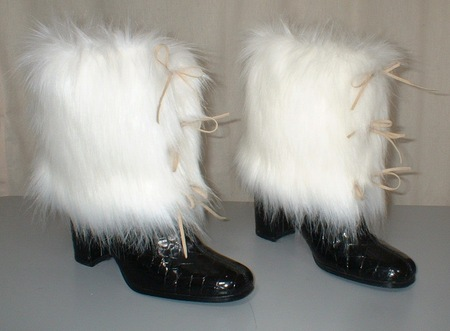 Polar Bear Faux Fur Boot Wrap