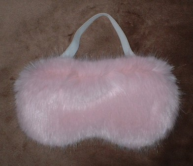 Raspberry Cream Mink Faux Fur Eye Mask