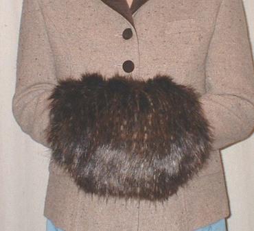 Kodiac Bear Faux Fur Muff