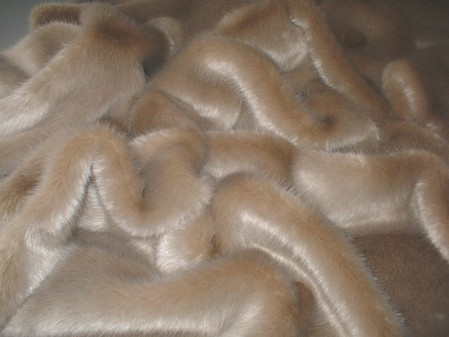 Honey Blonde Faux Fur per meter