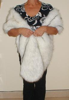 Alaska Faux Fur Slim Stole