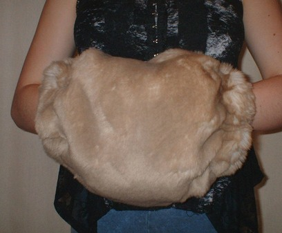 SALE Tissavel Cream Caramel Faux Fur Muff
