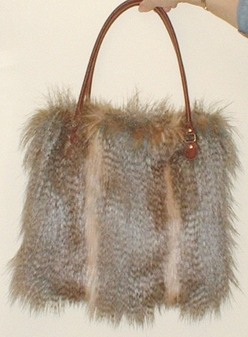 Desert Coyote Faux Fur Bag