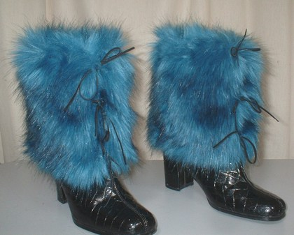 Blue Lagoon Faux Fur Boot Wraps