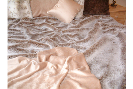 SALE Koala Bed Runner with Latte Velboa