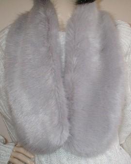 Silver Mink Faux Fur Neck Scarf