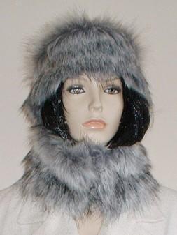Silver Musquash Faux Fur Headband